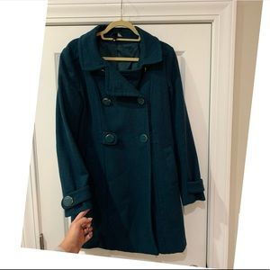 H&M Teal Green long peacoat size 10 :) pretty!